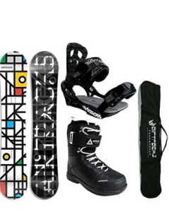 Grid White Set fürs Snowboard