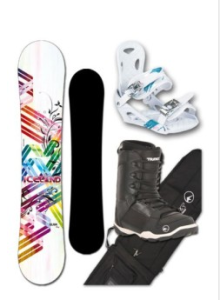 Set für Snowboards Glam Girl